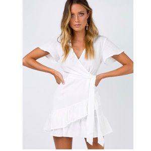 Princess Poly white wrap dress